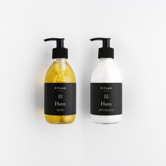 Fitjar Islands   Havn Hand Soap + Hand & Body Lotion 250ml set