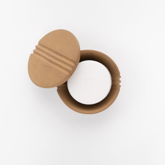Fitjar Islands Shaving Soap Bowl x Rita Lysebo Egren | Leather