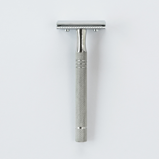 Sollingen Traditional Safety Razor Silver | Fitjar Islands